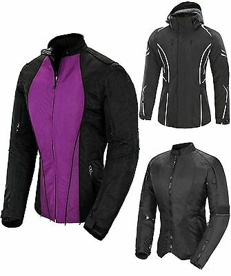 Womens Motorbike Motorcycle Ladies Waterproof Cordura Jacket Protection
