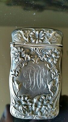 Sterling Silver cigarette / wooden matches holder