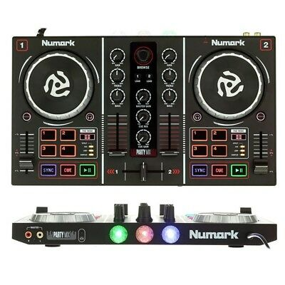 NUMARK PARTY MIX controller DJ consolle midi usb 2canali virtual dj scheda audio