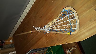 Vintage - retro Lacrosse stick by Hattersley's hickory and leather