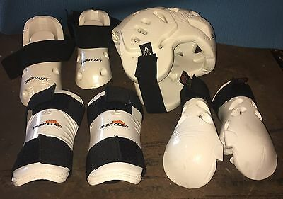Swift Sparring Gear Set Martial Arts Karate Face Protector Gloves Guards Shoes
