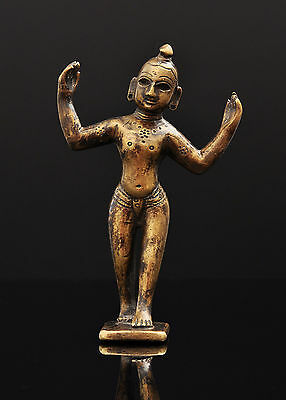 Walking Krishna, Bronze / Brass Statue, India, Indian Art, Asian Art