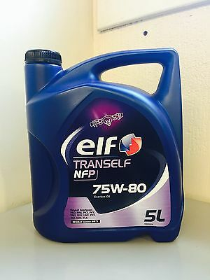 Elf Tranself NFP 75W80 Synthetic Renault Gear Oil 5L - ELF UK OIL DISTRIBUTOR