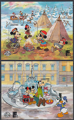 Lesotho 1988  fine used Bl.49/50 Comics Micky maus Mickey mouse [st2809]