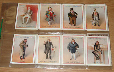 Cope's Cigarettes Dickens Character Complete 25 Cards Set 1939 - Mint