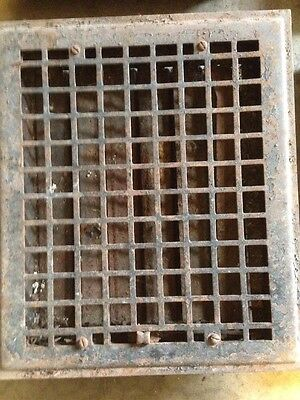 4 Available, priced Separate Antique Sheet Metal Floor Grate