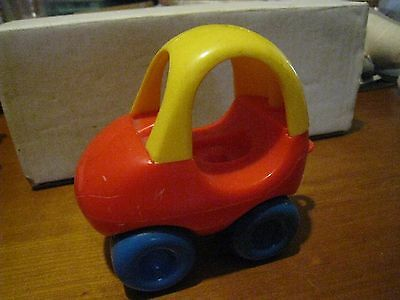 Playskool Vintage Toy Car Toddle Tots Red Yellow Cozy Coupe 5
