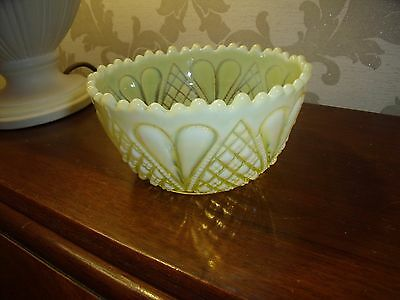 """george Davidson""..yellow... Pearline.vaseline. Glass Bowl..william And Mary..."