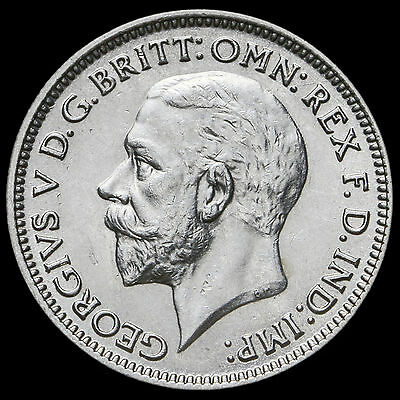 1933 George V Silver Sixpence – A/UNC