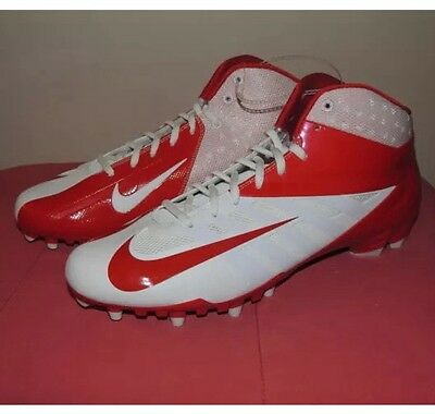 NEW Nike Vapor Pro Mid TD Red White American Football Cleats 16 Shoes 511339-166