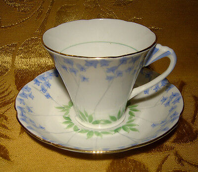 Grafton China Blue Flowers Cup & Saucer Made In England