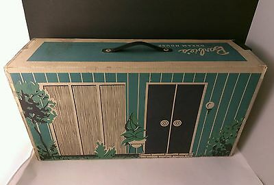 Vintage 1962 Barbie Dream House w/ Cardboard Furniture -Good Condition Extras