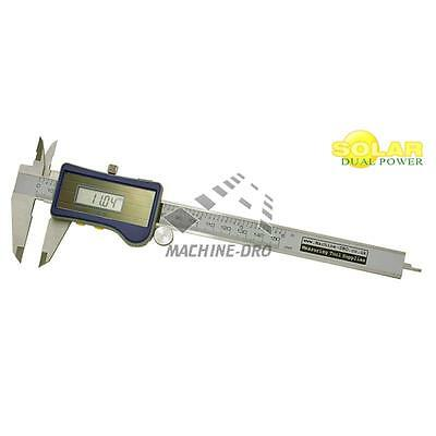 Digital Solar Caliper 150mm 6' 'Vernier Dual Powered with Battery Back up