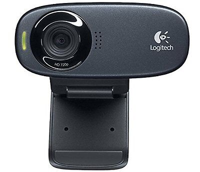 Logitech C310 5MP 1280 X 720 Pix USB Black HD Webcam Web Camera