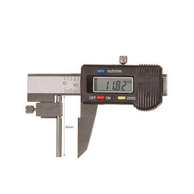 Tube Wall Thickness 150mm 6 inch Digital Caliper Vernier Round Pin Jaw