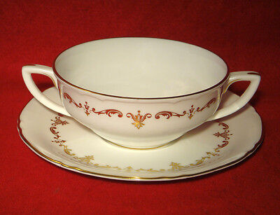 Royal Worcester *gold Chantilly* Cream Soup Cup & Saucer Set(S) Take 1 Or More