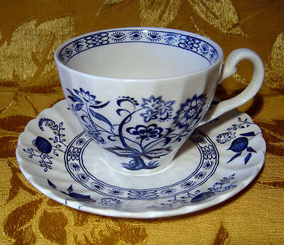 """Johnson Bros """"nordic"""" Blue Cup & Saucer Set(S) Made In England"""