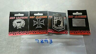 Hot Leathers Biker Lapel Pin Lot of 4 New #7293