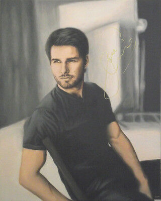 TOM CRUISE Painting, AUTOGRAPHED by Him - VIDEO PROOF