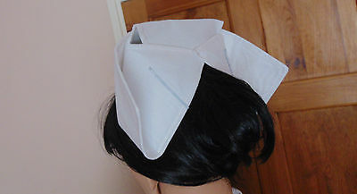 Nurse Hat Vintage Starched Style Cotton Hat Traditional Style  Ww2 Ww1