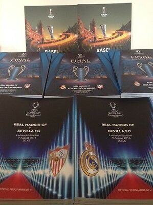 UEFA Programme Final Bundle 2016 - Champion's League / Europa League / Super Cup