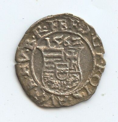 Hungary 1562 Denar (#774). Great Condition. Sharp Date. And Over 450 Years Old.