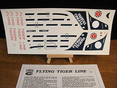 FLYING TIGERS DC-8  Decal / Postcard