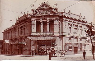 Uruguay - Montevideo - Teatro Urquiza unused real photo postcard