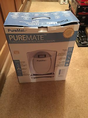 PureMate Hepa Air Purifier with Ioniser Air Cleaner Asthma Allergies dust Pollen
