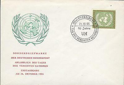 Germany BRD Michel Nr. 221 FDC United Nations UNO gs36