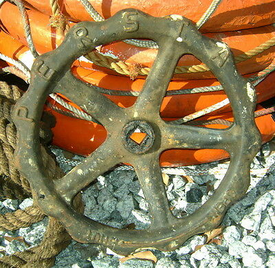 Large Vintage Iron Door Wheel Handle - Marked Persta - Germany