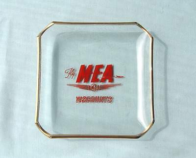 Vintage 1955 Fly M.E.A.  Viscounts.Coin dish / ashtray not Chance Glass