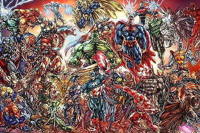 HD Print Portrait Oil Painting Wall Decor Canvas,DC and Marvel Comics Poster Art
