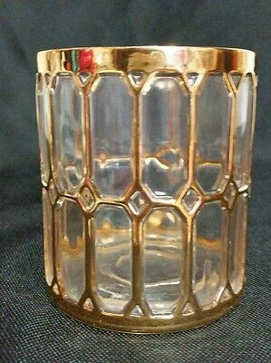 """STUNNING Imperial Glass Spanish Windows Double Old Fashioned Glasses 3 5/8"""""""