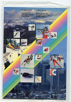 Weeda Canada Thematic Collection #38, 1988 Catching the Spirit folder CV $10