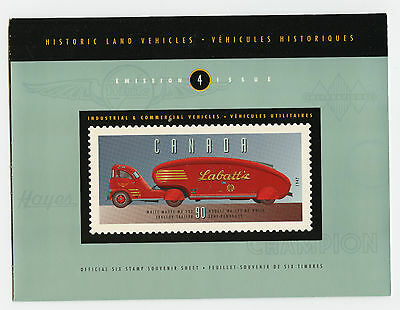 Weeda Canada Thematic Collection #71, 1996 Industrial vehicles folder CV $7.50