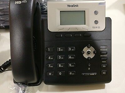 Yealink T21P E2 VoIP SIP IP Phone 2 lines