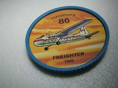 Vintage 1960s Jell-O/Hostess Airplane Coin #86 - Transports - Freighter - 1945