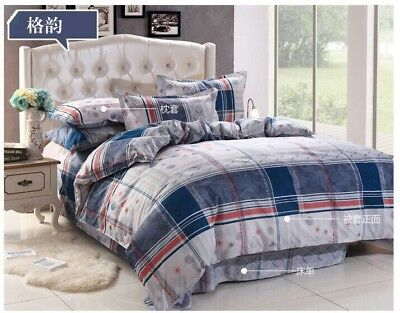 Single Size Duvet Cover Set,Quilted Bedding Set With Pillow Case & Fitted Sheet