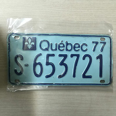1977 Quebec Canada Snowmobile Ski-Doo License Plate S-653721 Very Good Condition