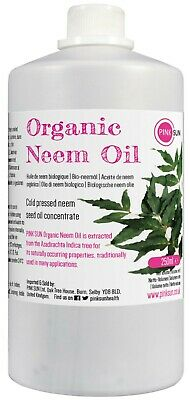Organic Neem Oil 250ml 1lt Cold Press Unrefined Pet Plant Horse Insect Repellent