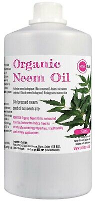 Organic Neem Oil 250ml Cold Pressed Unrefined Pet Plant Horse Insect Repellant