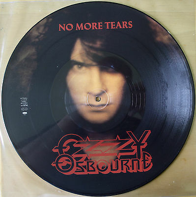 "EX/EX OZZY OSBOURNE NO MORE TEARS 12"" Vinyl PICTURE DISC BLACK SABBATH"