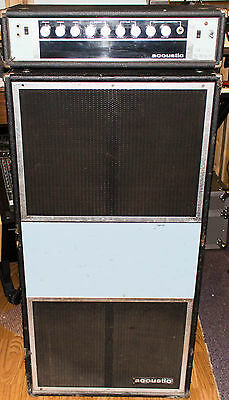 Vintage Acoustic 360 / 361 Bass Head and Powered Amplifier Cabinet - 1 x 18