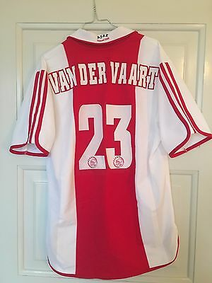 Ajax 2000/2001 Van Der Vaart #23 (L) Rare! Home Umbro Football Shirt Jersey