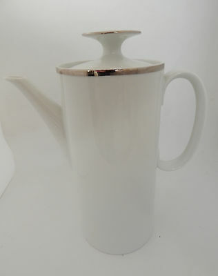 Thomas China Medaillon  Platinum / Silver Band & White Coffee Pot