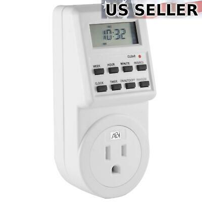 ABI Digital Power Timer 7-Day Programmable 3-Prong Socket Switch 15A/1800W