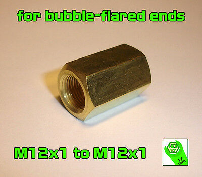 Brake Line Pipe Brass Inline Female Fitting Connector Coupler M 12x1 Metric A