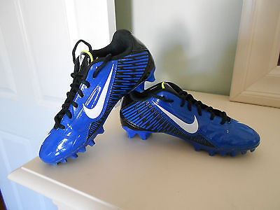 NIKE Vapor Strike 4 Royal Blue TD Low Football Cleats Youth Size 5 *EXCELLENT*