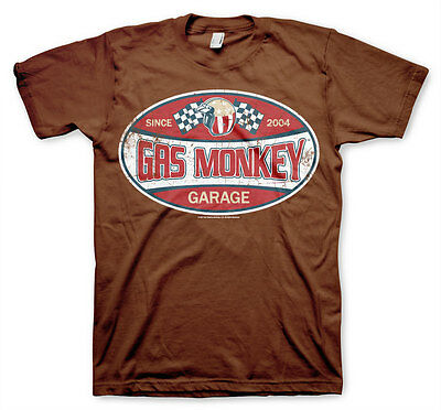 Gas Monkey Garage Since 2004 Label Fast N Loud Männer Men T-Shirt Braun Brown